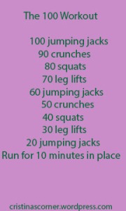 The 100 Workout copy